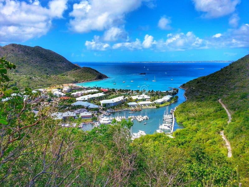 Beautiful st. Maarten magical Bay royalty free stock photography