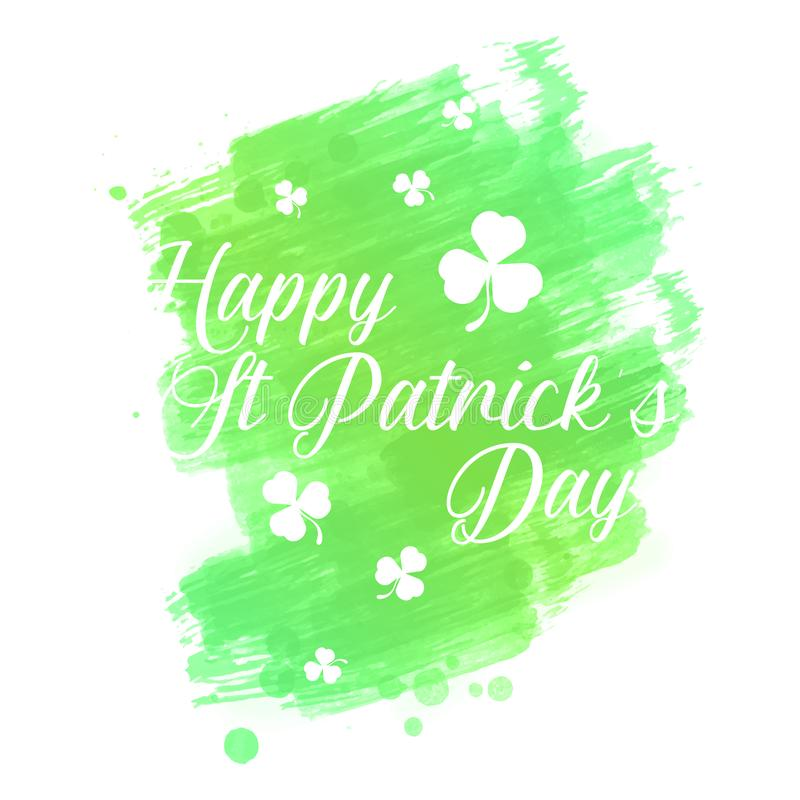Beautiful st patrick`s day watercolor background royalty free stock images