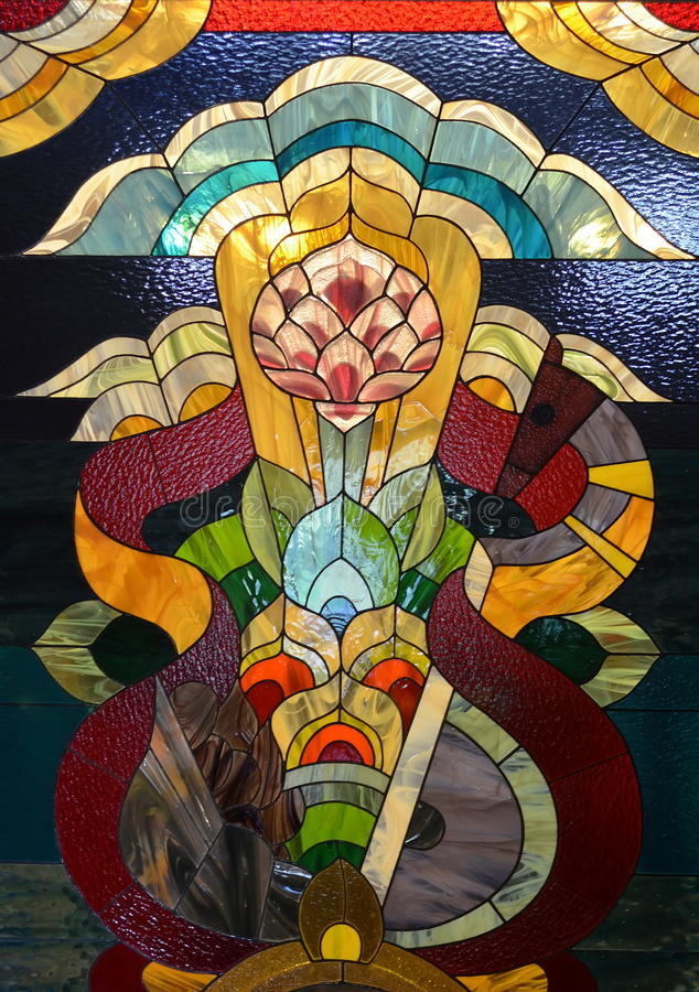 Beautiful stained glass stock photography