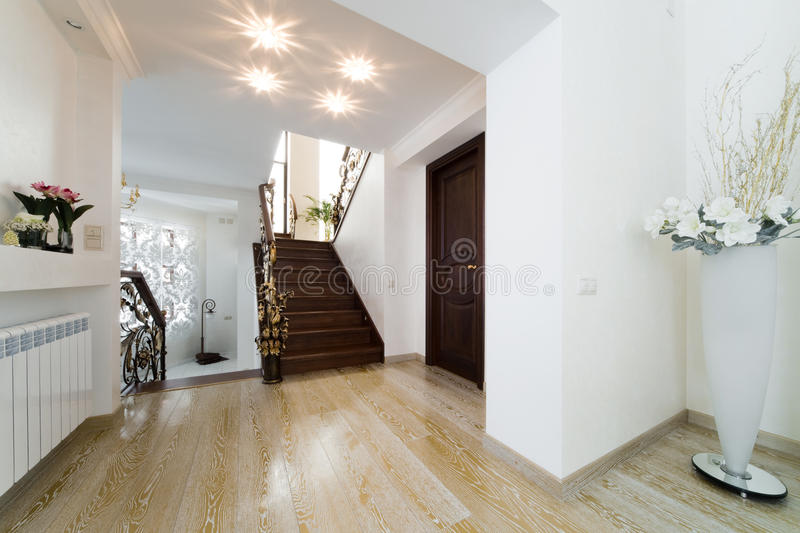 Download Beautiful staircase stock image. Image of bannister, hardwood - 16372511