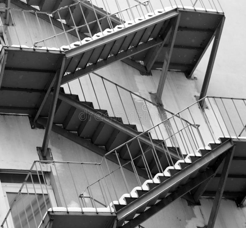 Beautiful staircase on the house photographed close up. Beautiful staircase on the house photographed close-up stock photo