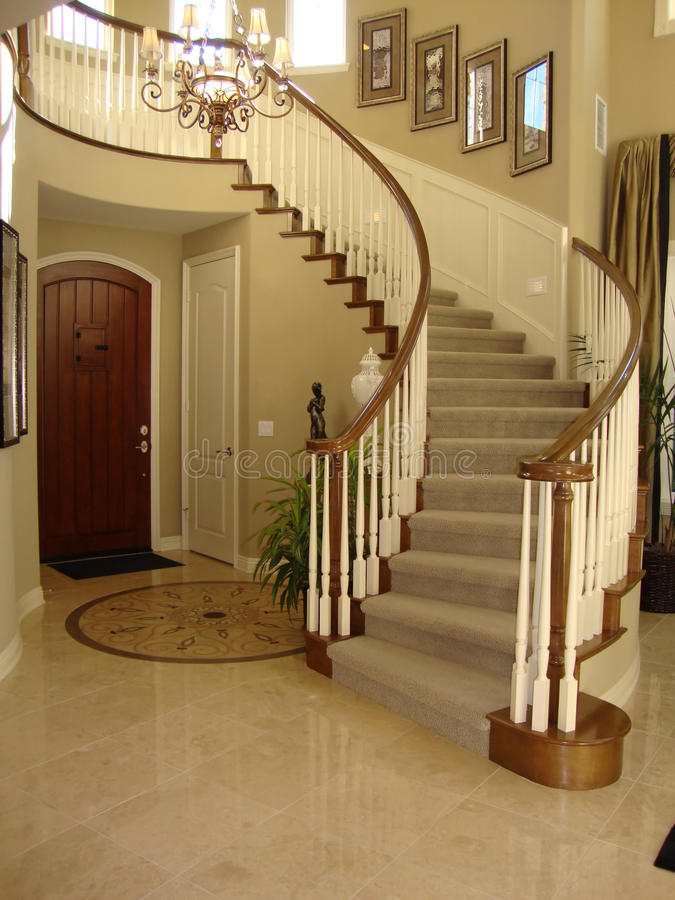 Beautiful Staircase With Mosaic Floor Stock Image Image