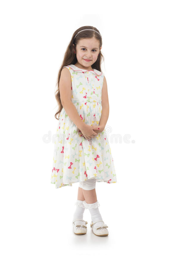 Beautiful Standing Girl Posing for Photo stock photography
