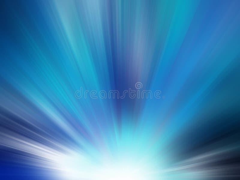 Starburst Blue Light Beam Abstract Background stock illustration
