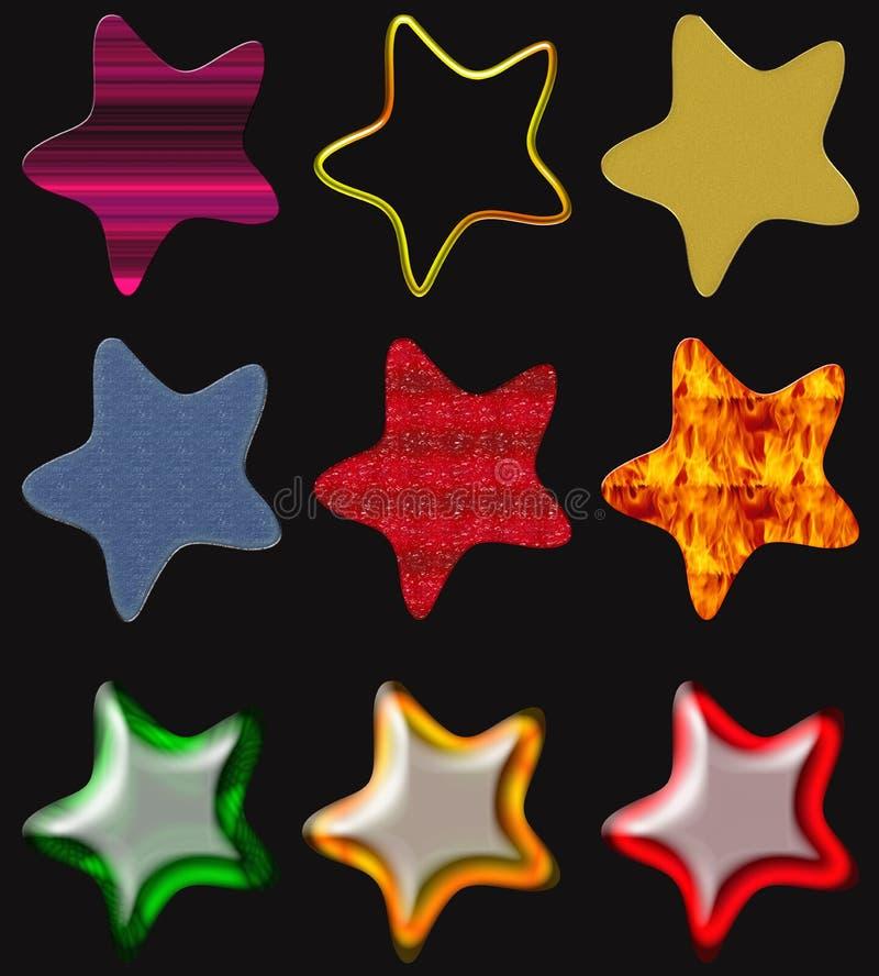 Beautiful Stars Isolated Royalty Free Stock Image