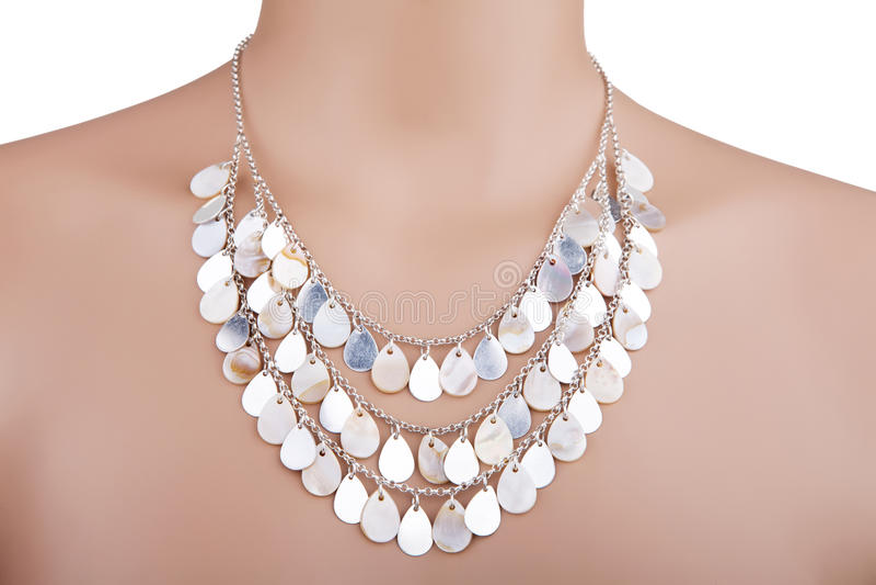 Beautiful statement necklace stock photo