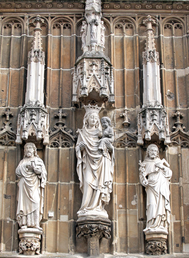 Beautiful statues at Aachen, Germany royalty free stock photos