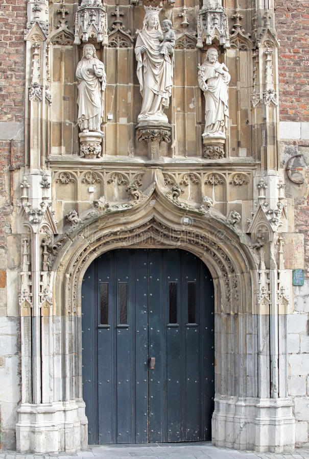 Beautiful statues at Aachen, Germany royalty free stock images