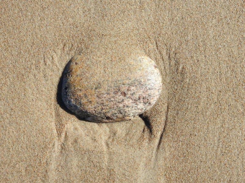 Beautiful stone on Baltic sea coast, Lithuania stock photography