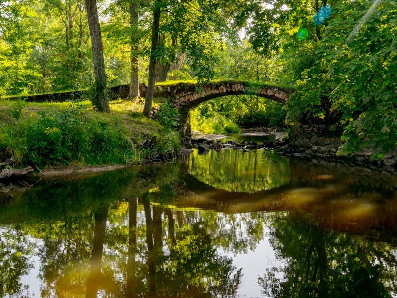 Beautiful stone bridge over the river Kuja, royalty free stock image