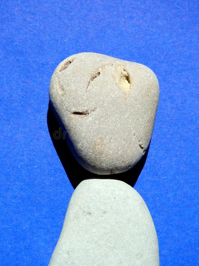 Beautiful stones from Baltic sea, looks like face, Lithuania stock image