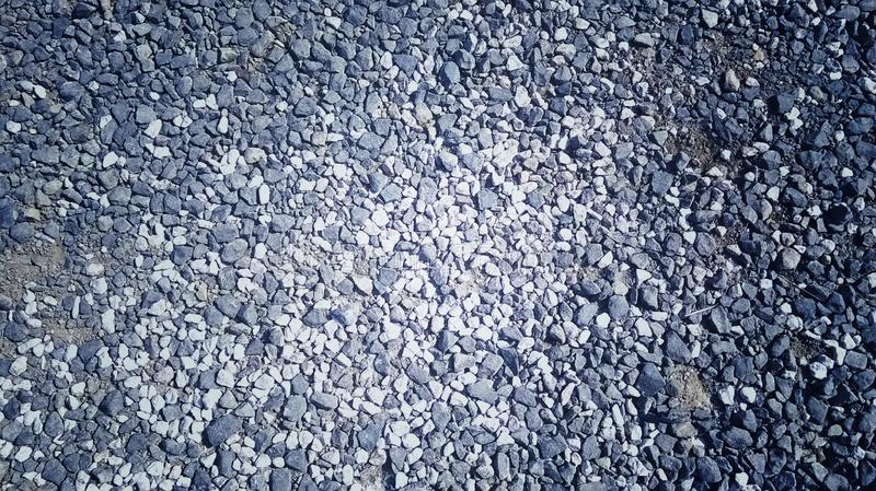 Beautiful stones in the ground stock images