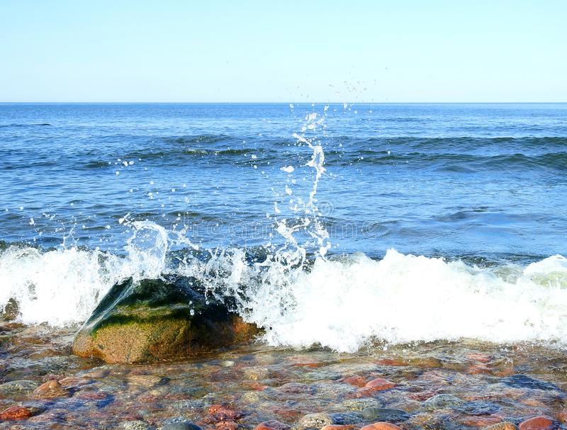 Beautiful stones near Baltic sea, Lithuania stock photos