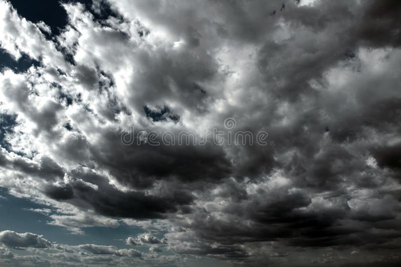Beautiful storm sky with clouds royalty free stock images