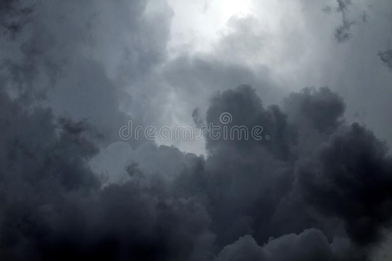 Beautiful storm sky with clouds. Apocalypse, tunder, tornado royalty free stock images