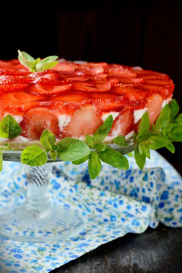 Download Beautiful Strawberry Cheesecake Stock Photo - Image of meringue, homemade: 43516606