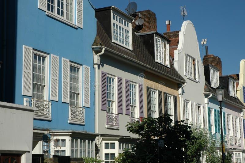 Beautiful street in London 2. stock photo