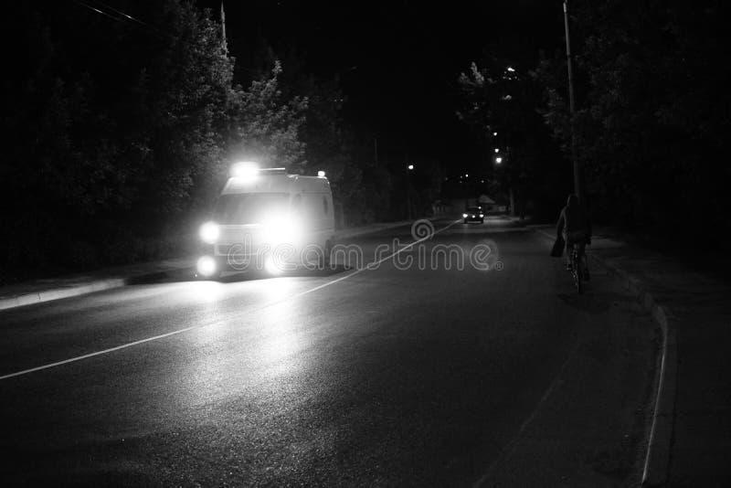 Beautiful street at night in Sibiu, Romania royalty free stock photo