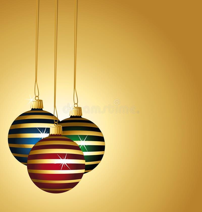 Beautiful Striped Christmas Balls. Stock Photo