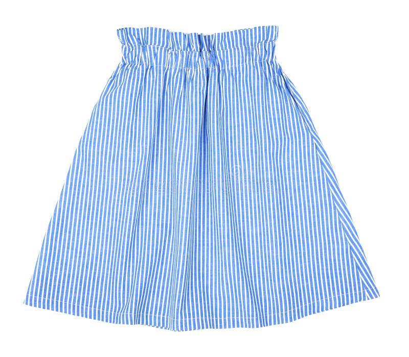 Beautiful striped mini skirt isolated stock photo