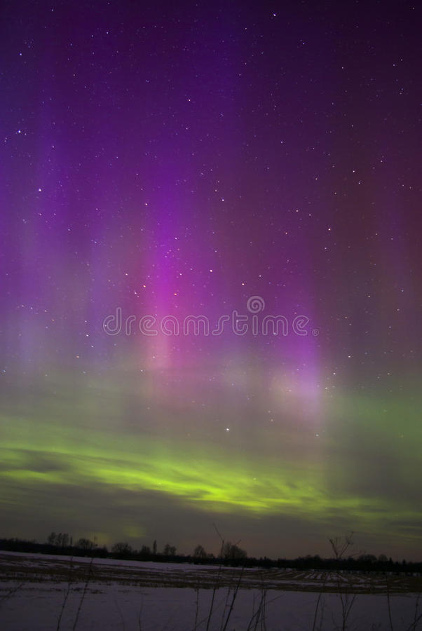 Free Beautiful Strong Northern Lights In Estonia Stock Image - 35763551