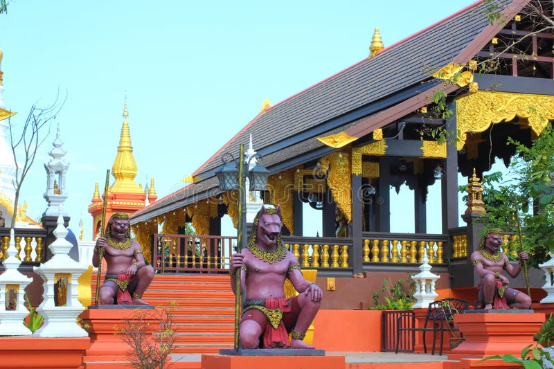 Beautiful stucco on the temple of Thailand. stock images