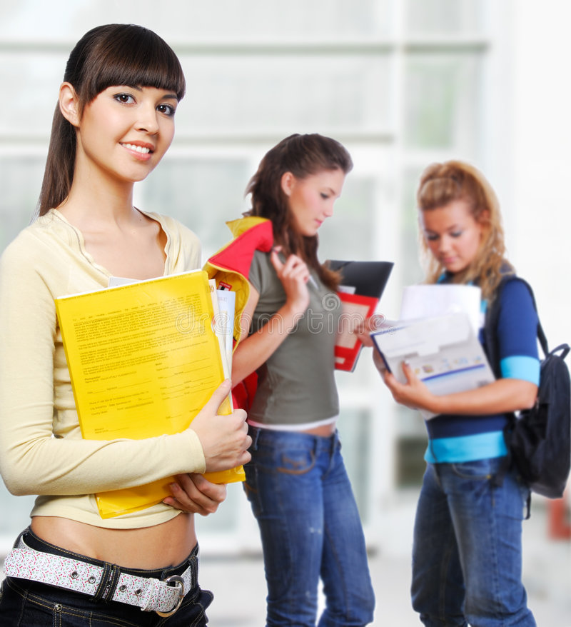 Download Beautiful student stock image. Image of casual, education - 7514049