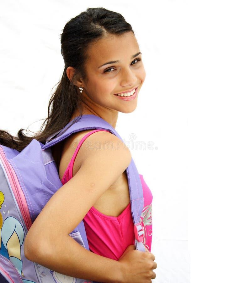 Beautiful student teenage girl royalty free stock image