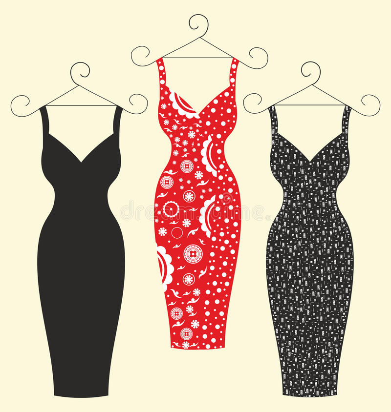 Beautiful stylish dresses for women royalty free stock images