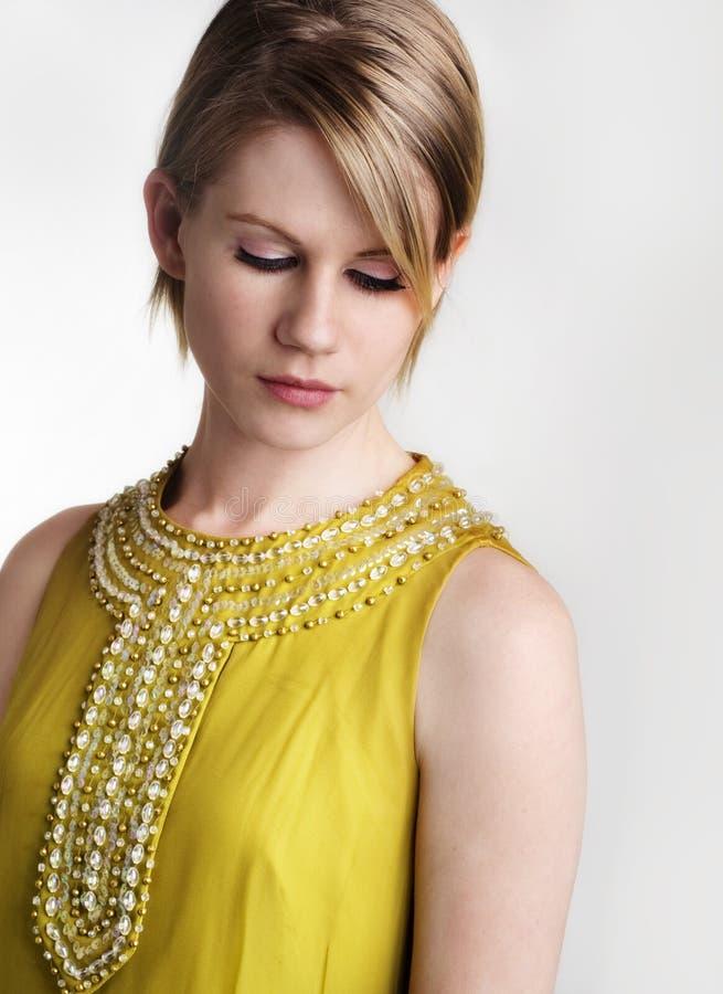 Beautiful stylish modern woman stock image