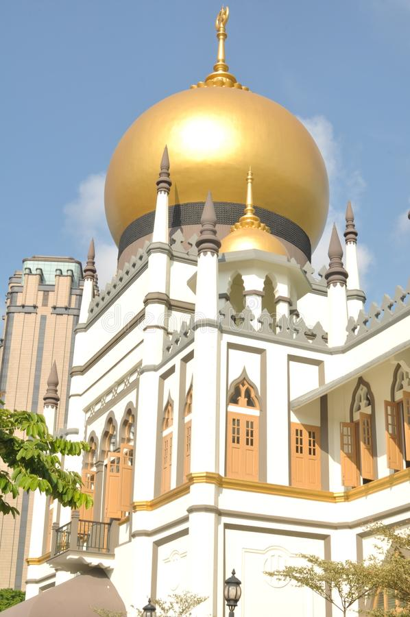 The beautiful Sultan Mosque in Singapore. Sultan Mosque is located at Muscat Street and North Bridge Road within the Kampong Glam district of Rochor Planning stock photos