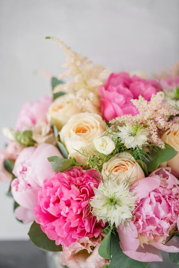 Beautiful summer bouquet flower arrangement with peonies color download beautiful summer bouquet flower arrangement with peonies color light pink the concept mightylinksfo