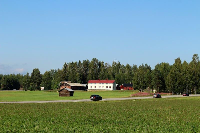 A beautiful summer day in Gäddvik stock image