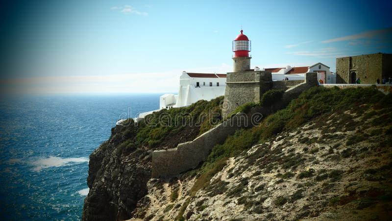 Cabo de Sao Vincente near Sagres, Portugal royalty free stock photo