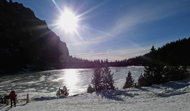 Beautiful summer day by Popradske pleso, Tatra mountains stock photo