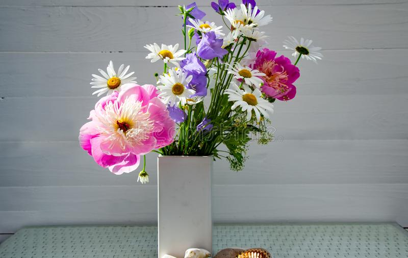 A beautiful summer flowers bouquet royalty free stock photos