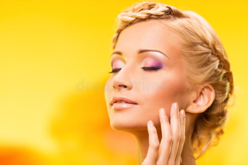 Beautiful summer girl royalty free stock images