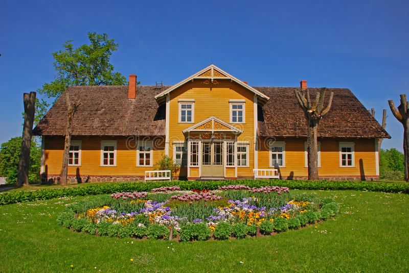 Custom Color Well Maintained: Beautiful Summer House In Countryside Stock Image