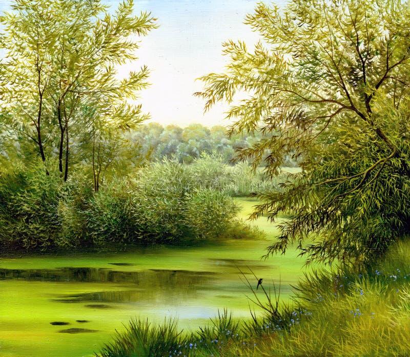 Beautiful summer landscape royalty free illustration