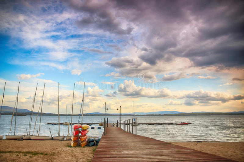 Beautiful summer landscape with cloudy sky and natural lake in download beautiful summer landscape with cloudy sky and natural lake in poland hdr image stock altavistaventures Gallery