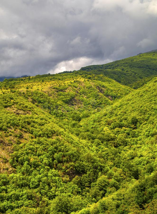 Beautiful landscape in the mountain range. Beautiful summer landscape in the mountain range stock photo