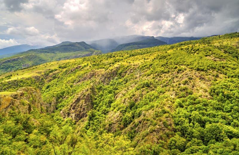 Beautiful landscape in the mountain range. Beautiful summer landscape in the mountain range royalty free stock photos