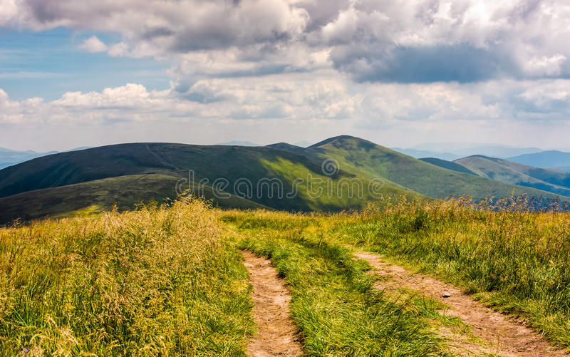 Beautiful summer landscape in mountains stock photos