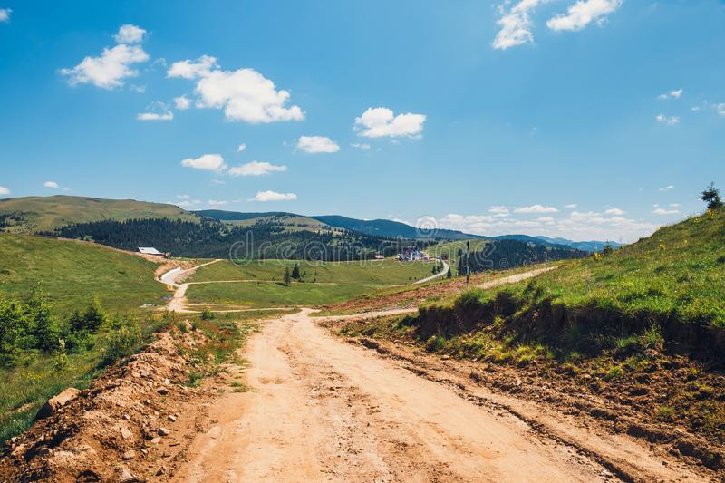 Landscapes of Rodna Mountains in eastern carpathians, romania royalty free stock image