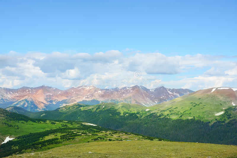 Beautiful summer mountain landscape. stock image