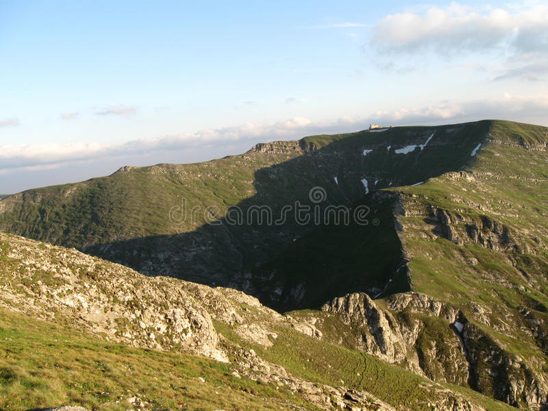 Beautiful summer mountain ridge landscape royalty free stock photo
