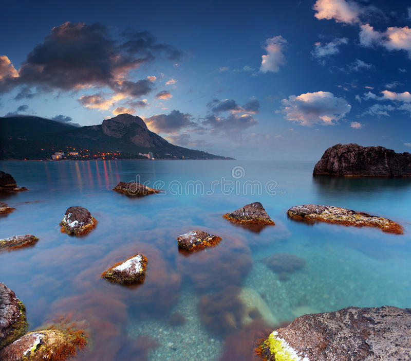 Beautiful summer seascape royalty free stock image