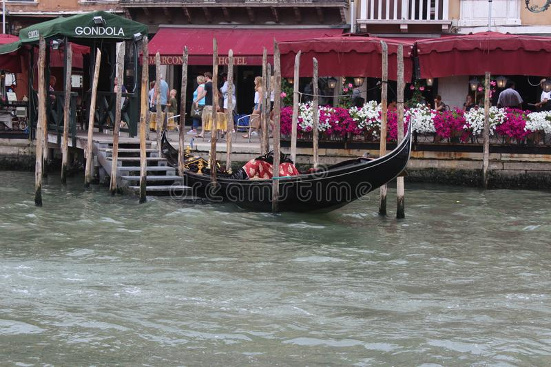 Beautiful summer in Venice Italy with Gondola royalty free stock image