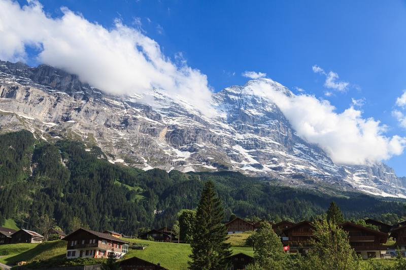 Beautiful summer view of mountain and small village. Beautiful o royalty free stock photography