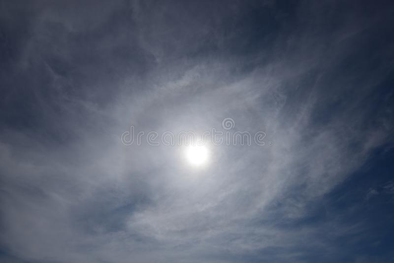 Beautiful sun halo phenomenon. In Penang stock images